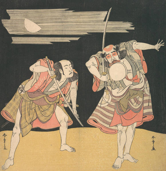 Relief - The Actors Otani Tomoemon I And Bando Mitsugoro I by Katsukawa Shunsho