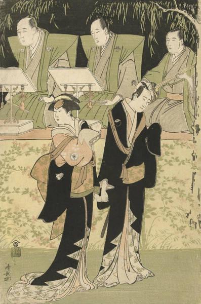 Relief - The Actors Sawamura Sojuro IIi And Iwai Hanshiro Iv by Torii Kiyonaga