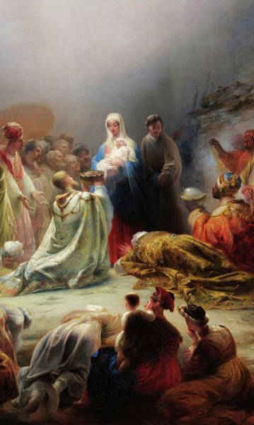 Wall Art - Painting - The Adoration Of The Magi, 19th Century by Domingos Antonio de Sequeira