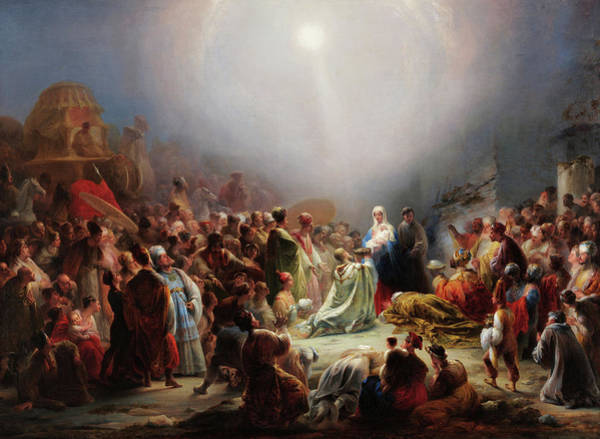 Wall Art - Painting - The Adoration Of The Magi by Domingos Antonio de Sequeira