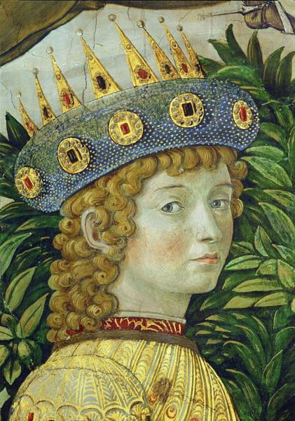 Crown Imperial Painting - The Adoration Of The Magi. Lorenzo Il Magnifico. Detail Of 40-14-01 / 38 Fresco -1459-. by Benozzo Gozzoli -1420-1497-