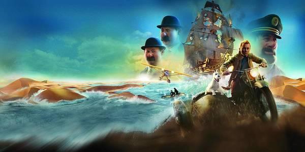 Wall Art - Digital Art - The Adventures Of Tintin Secret Of The Unicorn 2011 1 by Geek N Rock