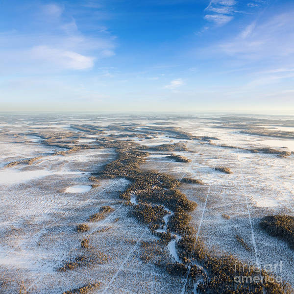 Wall Art - Photograph - The Aerial View The River On by Vladimir Melnikov