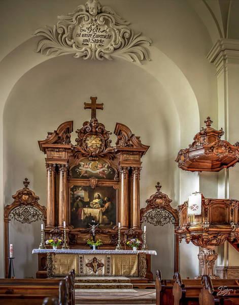 Photograph - The Agustusberg Chapel Altar by Endre Balogh