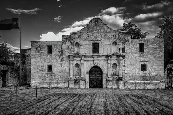 Wall Art - Photograph - The Alamo In Black And White by Garry Gay