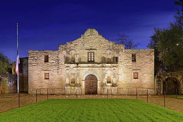 Photograph - The Alamo - San Antonio Mission - Texas by Jason Politte