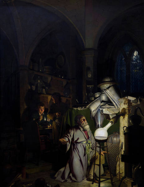 Wall Art - Painting -  The Alchemist Discovering Phosphorus, 1771 by Joseph Wright of Derby