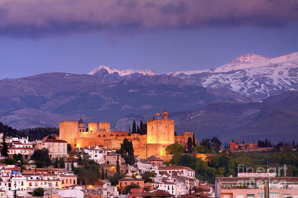 The Alhambra, Albaicin. Spring After The Snow Art Print