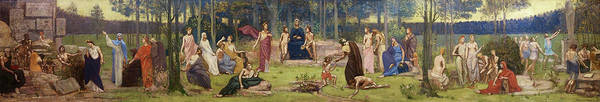 Wall Art - Painting - The Allegory Of The Sorbonne - Digital Remastered Edition by Pierre Puvis de Chavannes