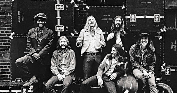 Hit Digital Art - The Allman Brothers Band by Queso Espinosa