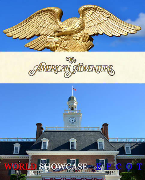 Wall Art - Mixed Media - The American Adventure Poster Work A by David Lee Thompson