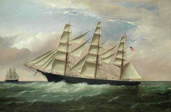 Howard Painting - The American Clipper Ship Raphael by William Howard Yorke