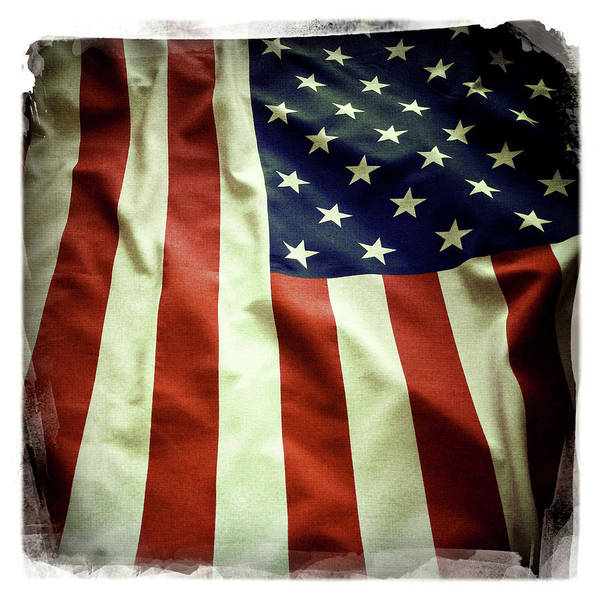 Wall Art - Photograph - The American Flag by Les Cunliffe