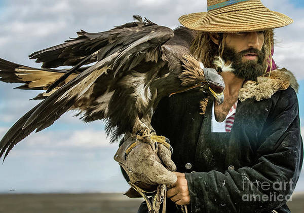 Wall Art - Photograph - The American Sportsman, Falconry With An Eagle by Thomas Pollart