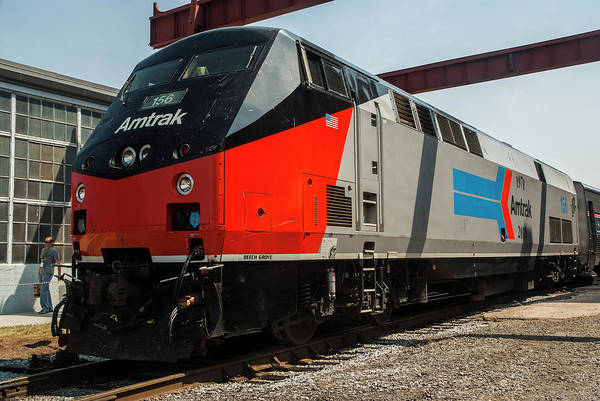 Photograph - The Amtrak Bloody Nose Heritage Unit by Matthew Irvin