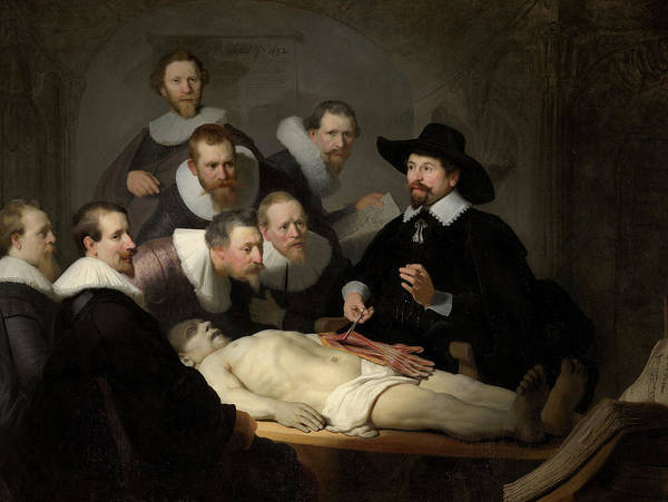 Wall Art - Painting - The Anatomy Lesson Of Dr Nicolaes Tulp, Circa 1632 by Rembrandt van Rijn