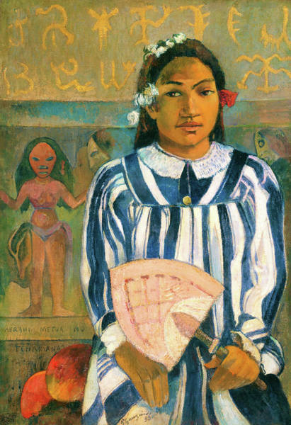 Wall Art - Painting - The Ancestors Of Tehamana - Digital Remastered Edition by Paul Gauguin