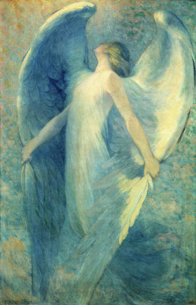 Wall Art - Painting - The Angel, 1912 by William Baxter Closson