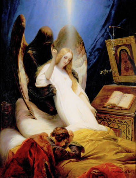 Wall Art - Painting - The Angel Of Death - Digital Remastered Edition by Horace Vernet