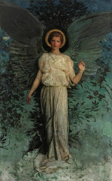 Wall Art - Painting - The Angel, Winged Figure, 1918 by Abbott Handerson Thayer
