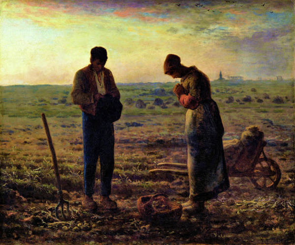 Wall Art - Painting - The Angelus - Digital Remastered Edition by Jean-Francois Millet