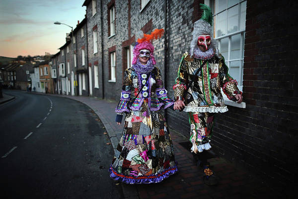 Photograph - The Annual Lewes Bonfire Night Parade by Dan Kitwood