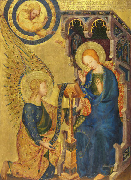 Wall Art - Painting - The Annunciation, 1380 by Unknown