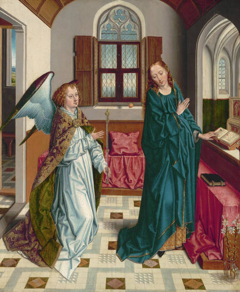 Wall Art - Painting - The Annunciation, 1480 by Albert Bouts