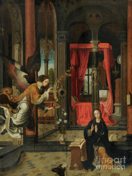 Wall Art - Painting - The Annunciation By Jan De Beer by Jan de Beer