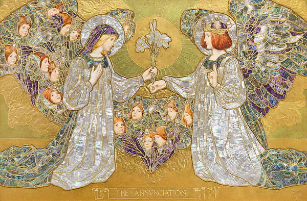 Wall Art - Painting - The Annunciation by Frank Pickford Marriott
