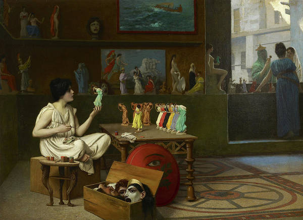Ceramics Wall Art - Painting - The Antique Pottery Painter by Jean-Leon Gerome