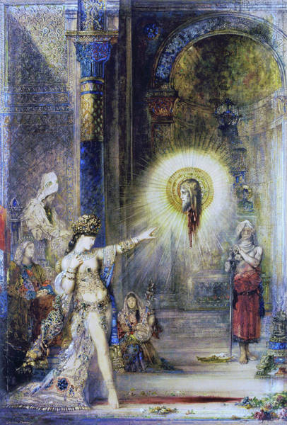 Wall Art - Painting - The Apparition 1876 - Digital Remastered Edition by Gustave Moreau