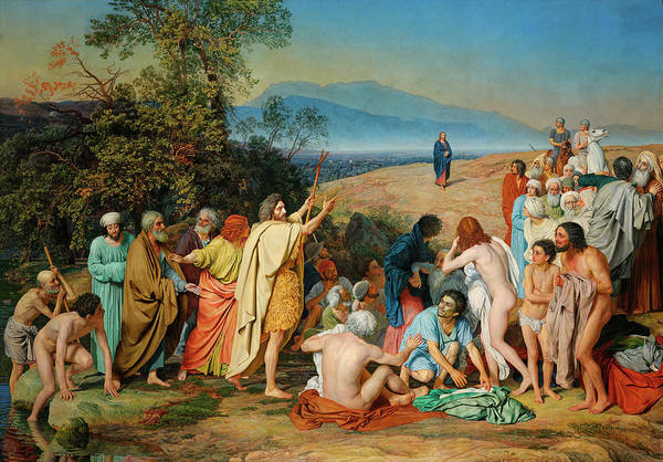 Russian River Painting - The Appearance Of Christ Before The People by Alexander Ivanov