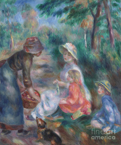 Wall Art - Painting - The Apple Seller, Circa 1890 by Pierre Auguste Renoir
