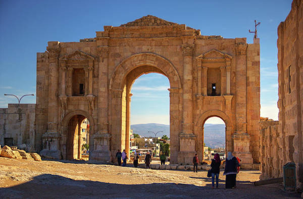 Jerash Photograph - The Arch Of Hadrian by Nicola Nobile