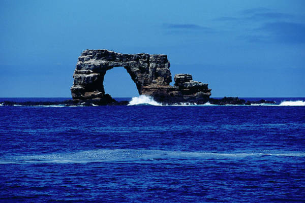 Bleached Photograph - The Arch Off Wolf Island, Galapagos by Ernest Manewal