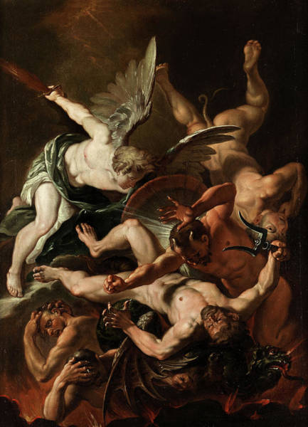 Satan Painting - The Archangel Michael by 17th Century