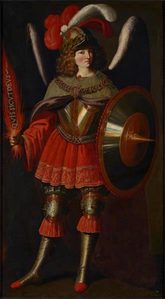 Flaming Sword Painting - The Archangel Michael by Francisco de Zurbaran