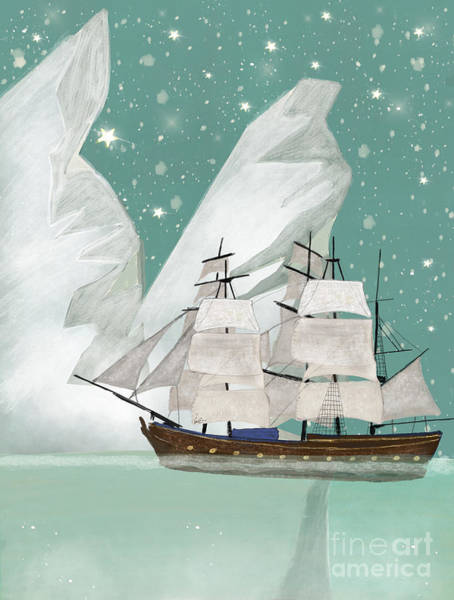 Ship Painting - The Arctic Voyage by Bri Buckley