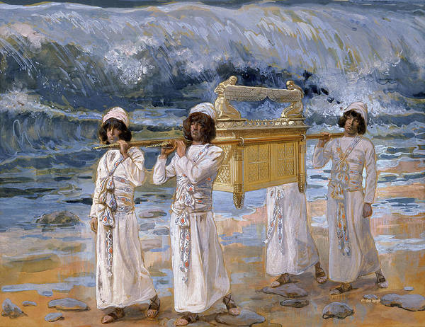 Wall Art - Painting - The Ark Passes Over The Jordan, 1902 by James Tissot