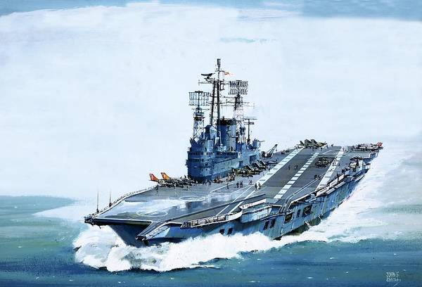 Flight Deck Painting - The Ark Royal by John S Smith