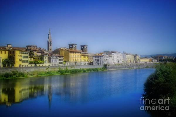 Photograph - The Arno Flows Through Florence by Mary Machare