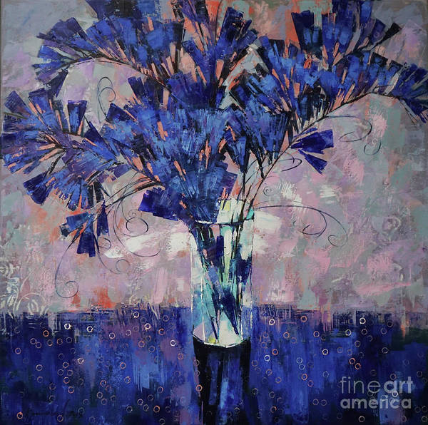 Wall Art - Painting - The Aroma Of Ultramarine by Anastasija Kraineva
