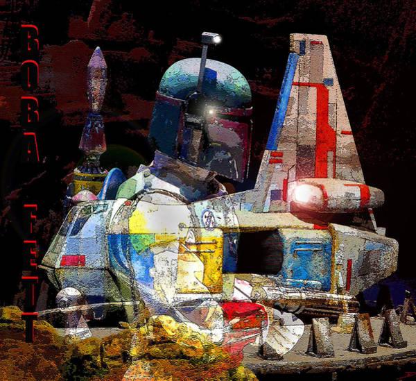 Wall Art - Mixed Media - The Arrival Of Boba Fett by David Lee Thompson