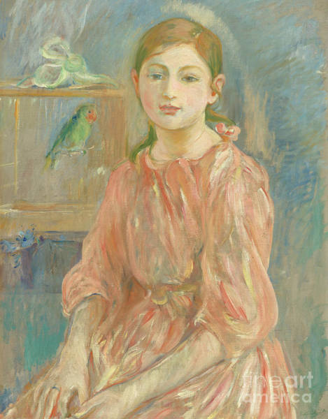 Wall Art - Painting - The Artists Daughter With A Parakeet, 1890  by Berthe Morisot