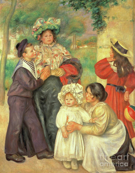 Wall Art - Painting - The Artists Family, 1896 by Pierre Auguste Renoir