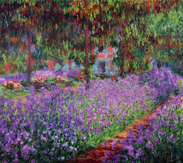 Wall Art - Painting - The Artist's Garden At Giverny, 1900 by Claude Monet