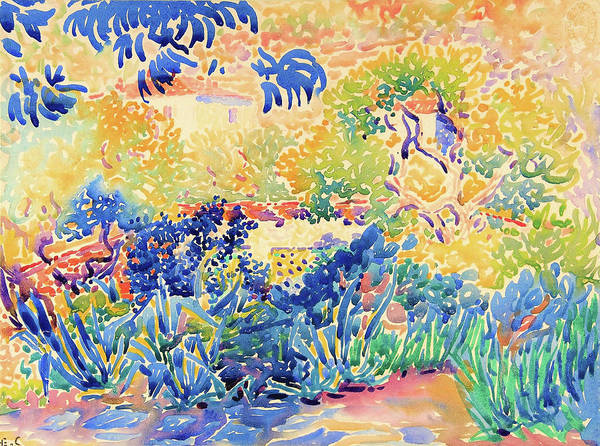 Wall Art - Painting - The Artist's Garden At St. Clair - Digital Remastered Edition by Henri Edmond Cross