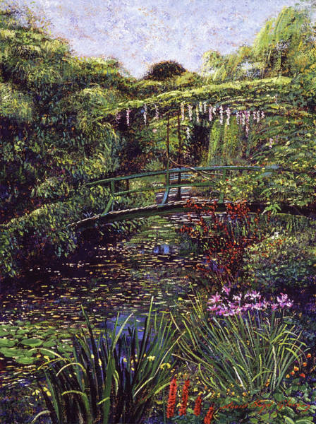 Painting - The Artists Garden Giverny by David Lloyd Glover