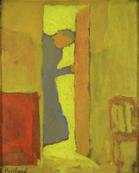 Wall Art - Painting - The Artists Mother Opening A Door - Digital Remastered Edition by Edouard Vuillard